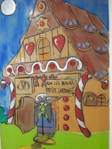 Fresque Noël au pays des contes de fées